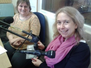 York-based author Helen Cadbury (right) talks to  presenter Julie Barker