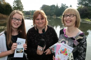 Julie Barker, centre, with junior winner Lydia Adrian and adult champion Liz Sullivan.