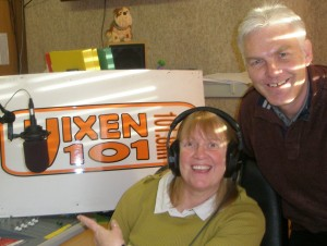 Rev Sue Pegg with Vixen 101's Tony Barker, who produced the programme.