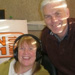 Sue Pegg with programme producer, Tony Barker.